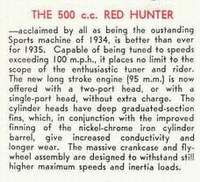 Red Hunter engine text